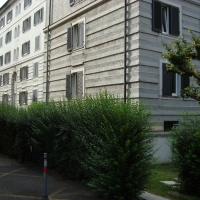Fassade: Horizontales Putzmuster (aus Putz)