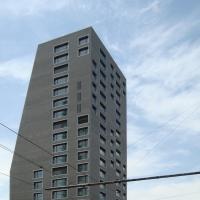 Fassade: Blick von der Hardturmstrasse (aus Mauerwerk)