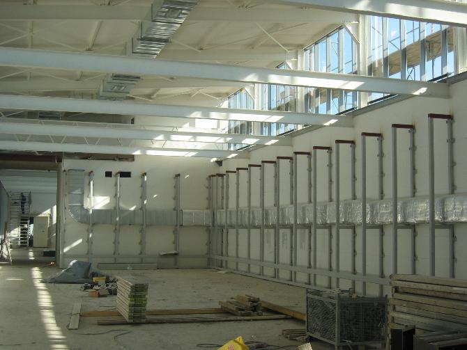Baustelle der Ausstellungsräume