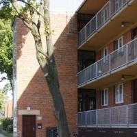 Erschliessung: Laubengang zur Erschliessung de Wohnungen