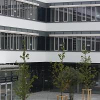 Der Innenhof der Schule