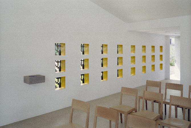 Eingangsbereich: Eingang mit den Nischen der Aposteln