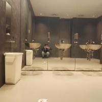Sanitär: WC mit Spiegel (aus Glas)