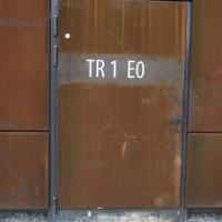 Türe: Tür in Kortenblech