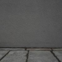Sockelanschluss: Sockelanschluss zu Granitsteinfussweg (aus Putz)