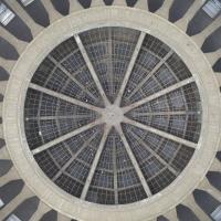 Dach: Die Kuppel von unten (aus Beton)