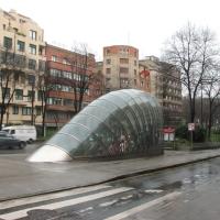 Metroeingang (aus Glas)