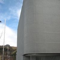 Fassade: Fassade aus Glasbausteinen (aus Glas)