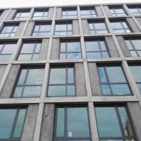 Fassade: Fassade mit Betonraster (aus Beton)