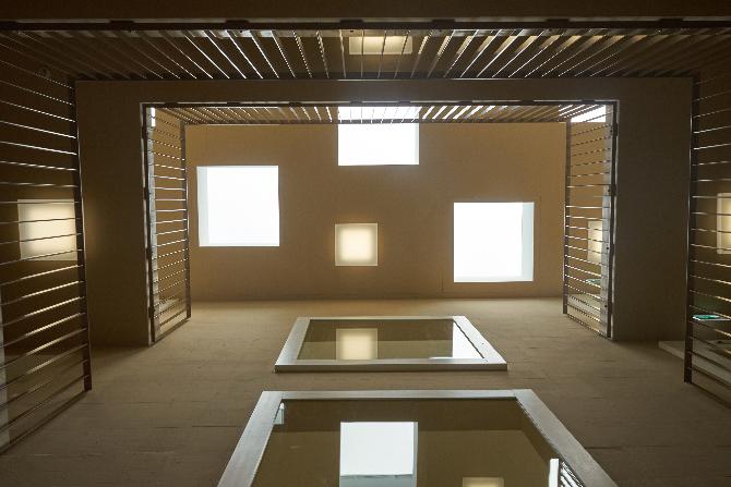 Erschliessung: Lichtkuppeln im Treppenhaus
