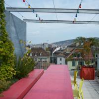 Dach: Auf der Dachterrasse