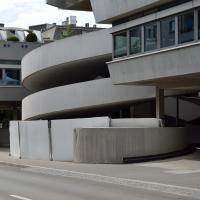 Rampe: Die Rampe zum Parkdeck