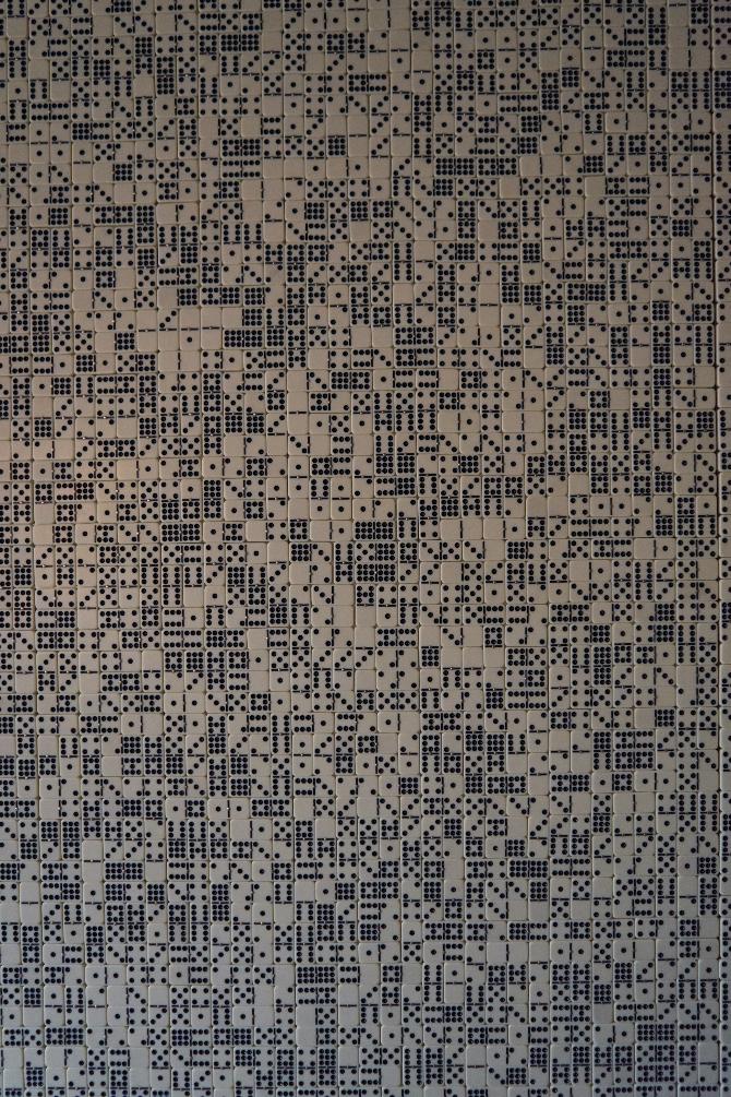 Detail nach Titel: Wandverkleidung aus Würfeln