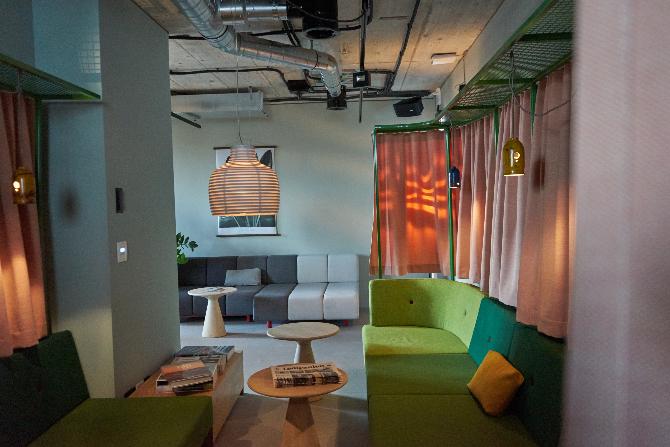Die Sitzecke in der Lounge