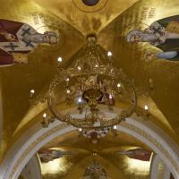 Decke: Die goldene Decke der Unterkirche (aus Putz)