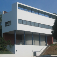 Fassade: Die klassische Ansicht vom Berg heraufkommend (aus Putz)