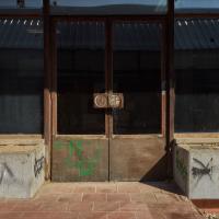 Türe: Doppeltür zur Sporthalle