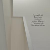 Erschliessung: Beschriftung im Treppenhaus