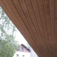 Aussenraum: Untersicht aus Holz geschwungen (aus Holz)