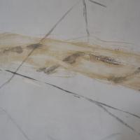 Einbauten: Holzbemalung der Kirche in Marmoroptik (aus Holz)