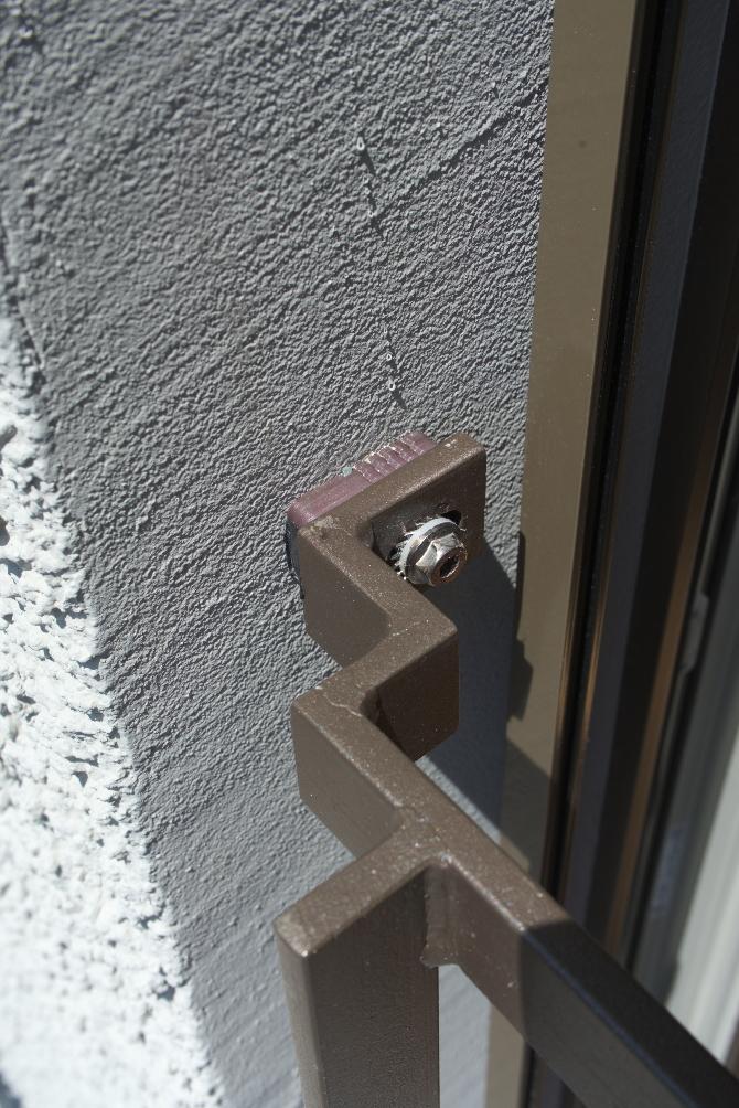 Geländer: Detail Geländerkonsole (aus Metall)