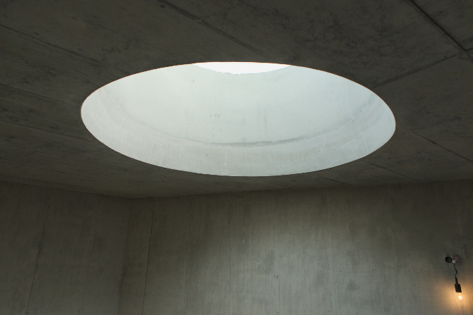 Rundes Oberlicht im Treppenhaus
