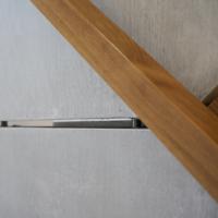 Treppe: Detail Stossfuge Betonelemente im Treppenhaus (aus Beton)