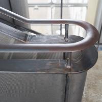 Geländer: Geländer und Handlauf aus Stahl (aus Metall)