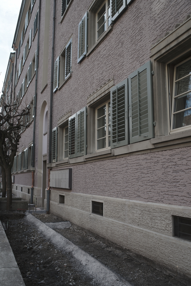Fassade:  (aus Putz)