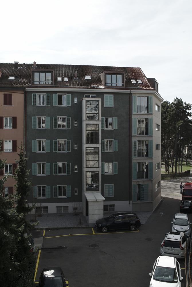 Fassade: Rückseite zur Viaduktstrasse