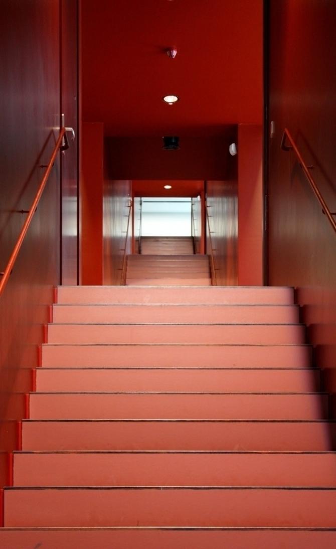 Erschliessung: Die neue Treppe als Verbindung