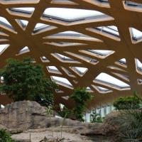 Die Kuppel mit der Holzkonstruktion von Innen (aus Holz)